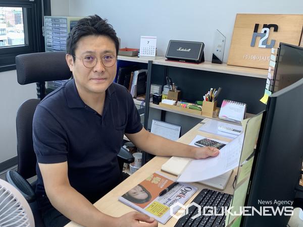 (주)에이치투씨디자인 하경록 대표 인터뷰 (사진사진제공=한국안광학산업진흥원)